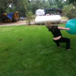 Yoga Ball Hits Girl's Face( Video)