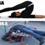 Image tagged in yoga, vodka
